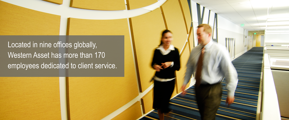 Located in nine offices globally, Western Asset has more than 170 employees dedicated to client service
