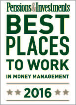 P&I Best Places to Work 2016 Award