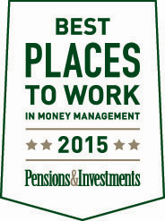 P&I Best Places to Work 2015 Award