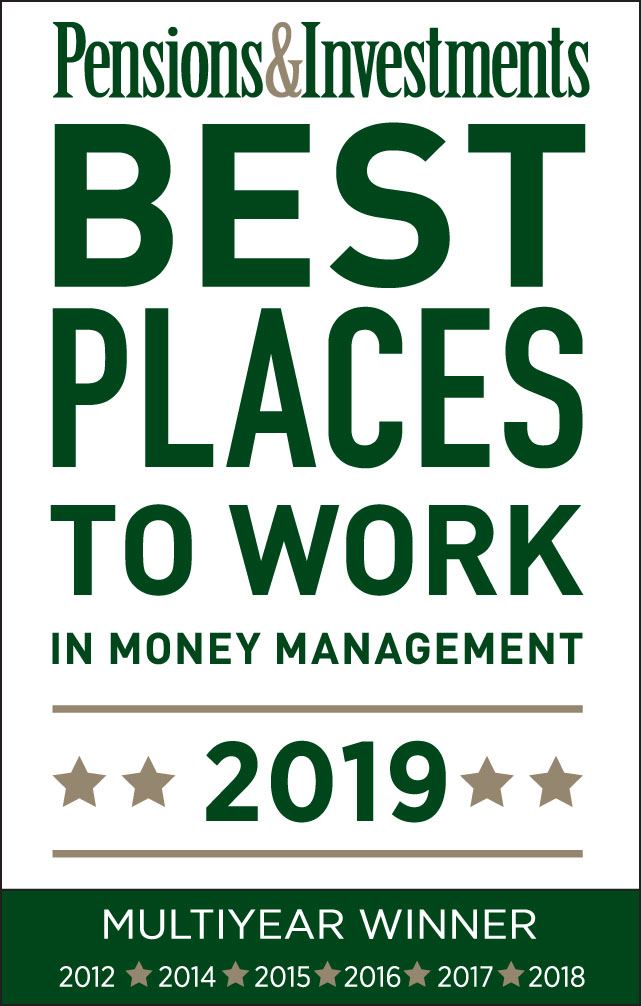 P&I Best Places to Work 2019 Award